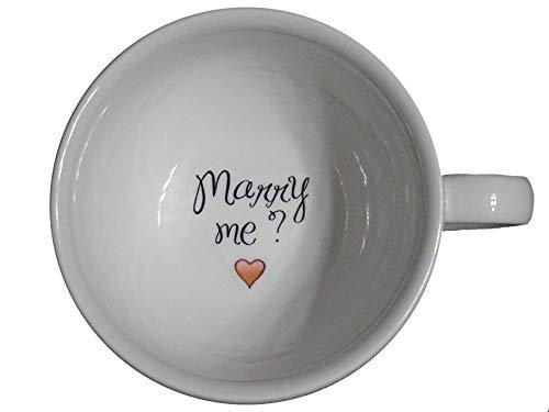 Marry me 2 Coffee Mug, bride mug, Father, Bottom mug, hidden message, secret message, Funny, Cool, Coffe cup, surprize, porcelain