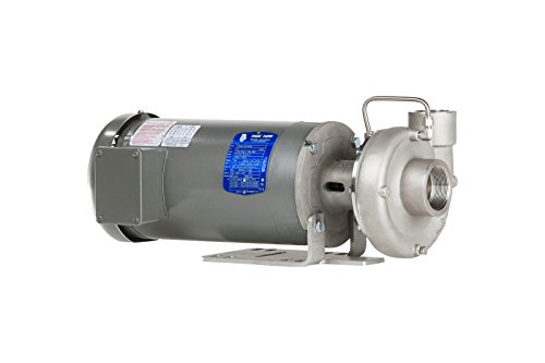 Price Pump CL150SS-576-21211-1000E-36-3T6 Close Coupled Horizontal and Vertical Centrifugal Pumps, 10HP, Max 300 GPM, TEFC Motor Enclosed, 300 GSM Maximum Flow Rate, Stainless Steel