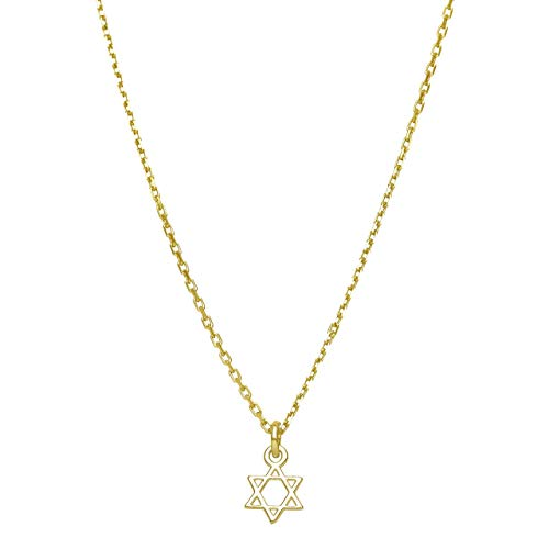 Tiny Gold Jewish Star Necklace Girl and Women