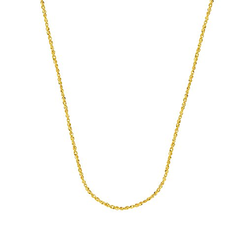 SINGAPORE CHAIN, 14KT GOLD SPARKLE SINGAPORE CHAIN WITH LOBSTER LOCK / 20
