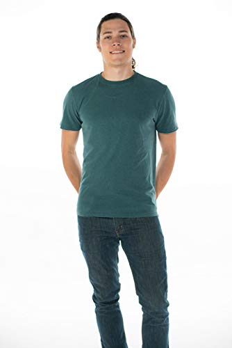 Onno Men's Hemp T-Shirt (L, Emerald Green) -