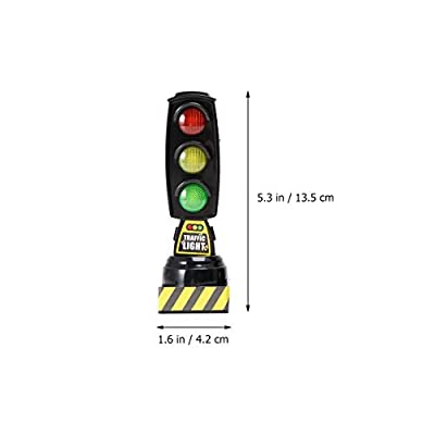 STOBOK 2Pcs Traffic Light Toy Decoration for Kids Bedrooms Or Themed Parties Pretend Play Black: Toys & Games