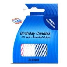 Convenience Valet Assorted Color Birthday Candle - 12 per pack -- 12 packs per case. by Convenience Valet