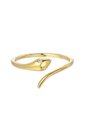 diamond snake ring, 14k solid ()