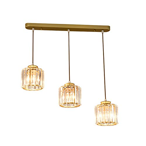 Windsor Home Deco WH-63426 A Modern Crystal Pendant Lamp, 3-Light Pendant Lights Fixture, Pendant Lighting