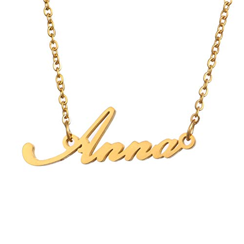 - Name Necklace Personalized,Name Necklace Cursive Font Made with Name Pendant 16