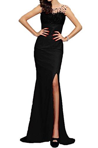 Mermaid partito Schlitz Damen ressing Dress Paillette Nero Fest ivyd Prom Modern vestito del abito Stvwq