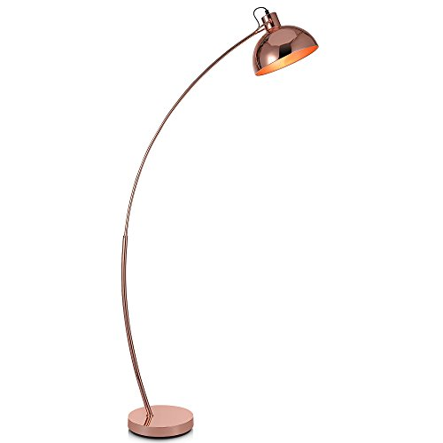Versanora - Arco 160cm Metal Arc Floor Reading Lamp with Downlight Shade -...
