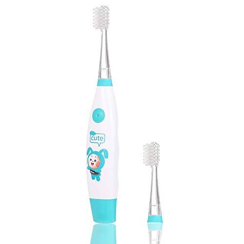 Heitaisi Electric Toothbrush,Vibration Waterproof Rotating Toothbrush with 2 Replaceable Round Soft Bristle Brush Head