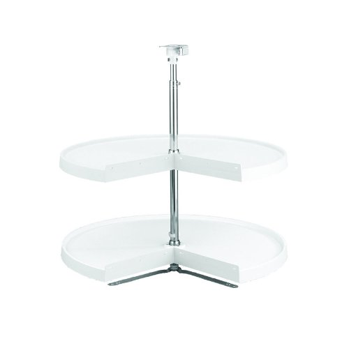 Rev-A-Shelf 6942-24-11-52 24'' Pie Cut 2-Tray Lazy Susan Set, White by Rev-A-Shelf