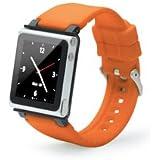 iWatchz iPod nanoを腕時計として楽しめるリストバンド Q Collection - Orange Band オレンジ QCORGB