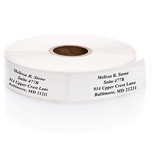 Clear Rolled Address Labels Without Elegant Dispenser - Roll of 250