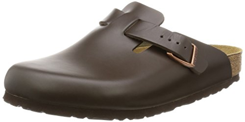 Birkenstock Boston 60101, Zuecos De Piel Natural Unisex Adulto Marrón