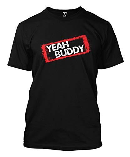 Yeah Buddy - Beach Shore TV Show Parody Men's T-Shirt (Black, XX-Large) Buddy Short Sleeve T-shirt