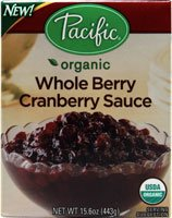 Pacific Natural Foods Organic Whole Berry Cranberry Sauce -- 15.6 oz
