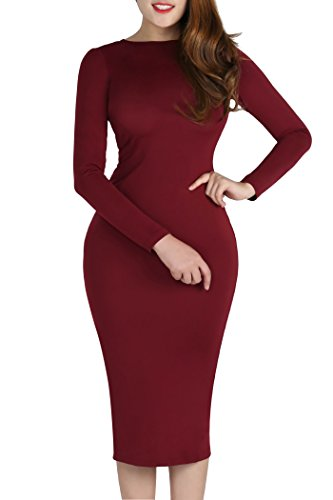 Plus Size Sexy Zipper YMING Front 02 4XL Bodycon Women S Dress Evening Bandage RED Midi zqqvga5x