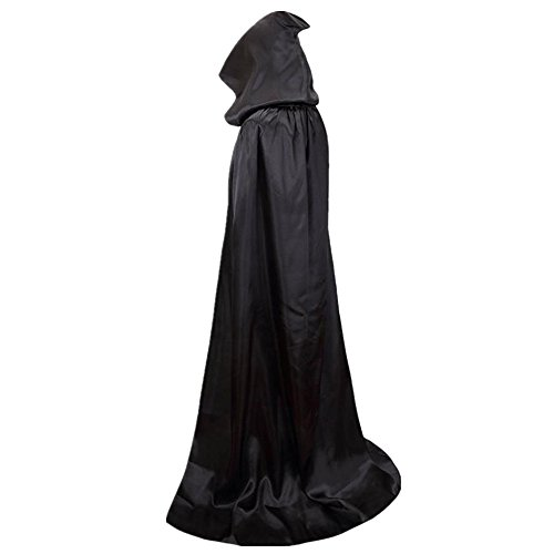 Haotfire Halloween Party House Unisex Full Length Hooded Cape Costume Cloak Role (Really Scary Halloween Costumes For Kids)