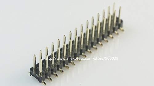 - Davitu 10pcs 2x15 P 30 pin 2.54 mm SMT Pin Header Male dual row surface mount PCB Tin Rohs Reach two rows No locator peg cut by hand