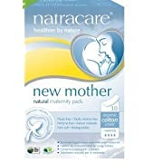 Natracare Maternity Pads,10 Pads Per Pack (Pack of 2)
