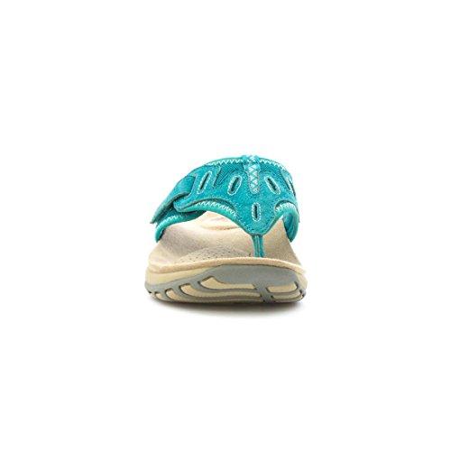 Sandalo Blu Sandalo In Pelle Con Stampa Terra Spirito
