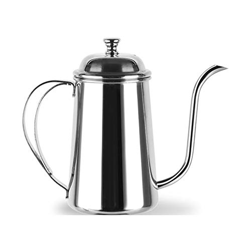 Coffee Pot teapot Stainless Steel,Mirror Finish Stainless Steel, Ergonomic Handle,gooseneck Thin Spout,for coffee, juice, milk, tea(650ml),a