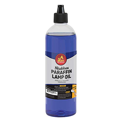 Paraffin Lamp Oil - Blue Smokeless, Odorless, Clean Burning Fuel for Indoor and Outdoor Use with E-Z Fill Cap and Pouring Spout - 32oz - by Ner ()