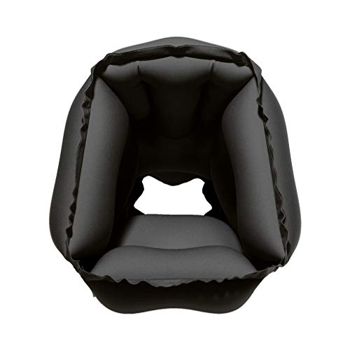 EnjoCho Travel Pillow Inflatable Pillows Air Soft Cushion Trip Portable Innovative Products Body Back Support Foldable Blow Neck Pillow (Black) by EnjoCho (Image #4)