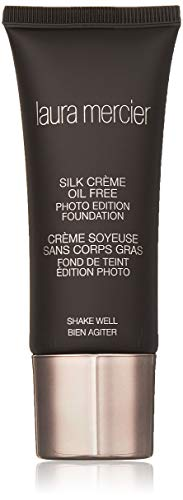 Laura Mercier Silk Creme Oil-free Photo Edition for WoMen, Foundation, Suntan, 1 Ounce ()