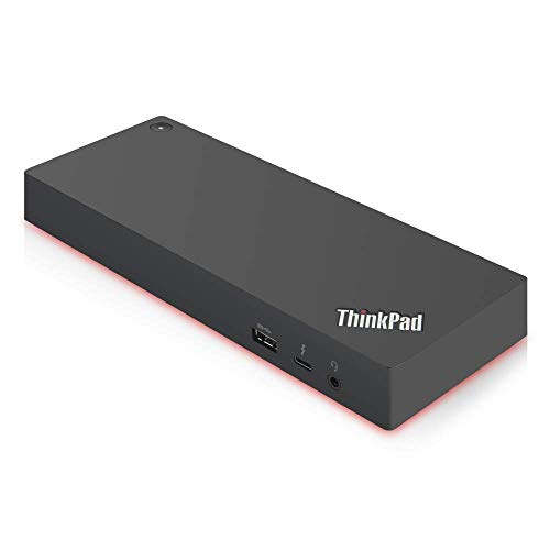 Lenovo ThinkPad Thunderbolt 3 Workstation USB Dock with 230w AC Included (MFG P/N ; 40AN0230US), Black from Lenovo