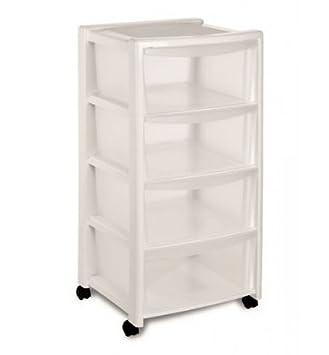 stefanplast libera 4 tiroirs haute meuble de rangement blanc 40 x 40 x 80