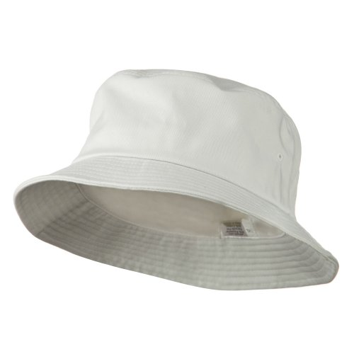 e4Hats.com Big Size Cotton Blend Twill Bucket Hat - White - Hat Adult Bucket