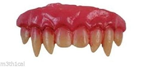 [Vampire Dental Fangs Dracula Werewolf Teeth Halloween Costume Accessory Gothic] (Indian Wolf Headdress Costume)
