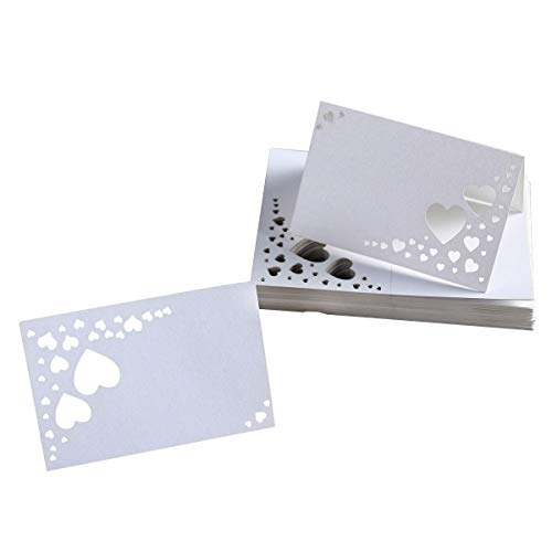 WINOMO Wedding Guest Name Place Cards 50pcs(White)