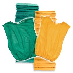 Adult Scrimmage Vest 50 Pack Grn/Yel (PAC) by BSN SPORTS