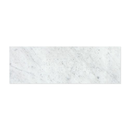 Carrara White Italian (Bianco Carrara) Marble 4 X 12 Field Tile, Polished