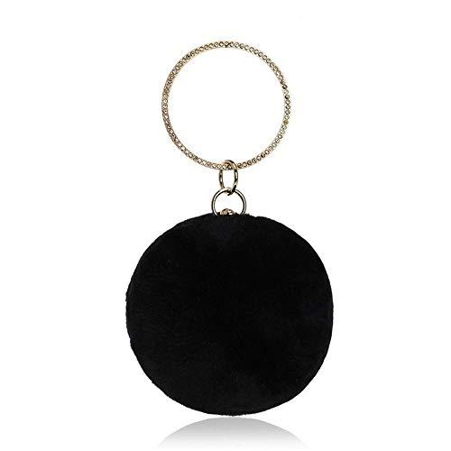 Monederos Para De Felpa Crossbody Mano Ocasión Esférica Especial Mujer Noche Monedero Black Co Bolso Embrague La Fiesta Bolsos gt4q54xZ