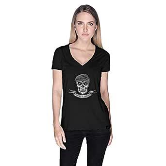 Creo Take Me To Jumeirah Bikers T-Shirt For Women - M, Black
