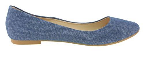Scarpette Da Donna Belle Marie Stacy-12 Con Punta Rotonda Slip On Ballet (7.5 B (m) Us, Blue Denim)
