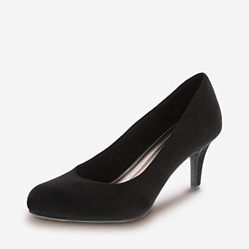 Predictions Comfort Plus by Women's Black Suede Women's Karmen Pump 7.5 Wide