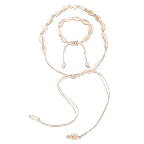 XIAOLI 2 Pcs Starfish Turquoise Ankle Beach Wedding Barefoot Sandals Bracelet Anklets (Conch 2 Piece Set)