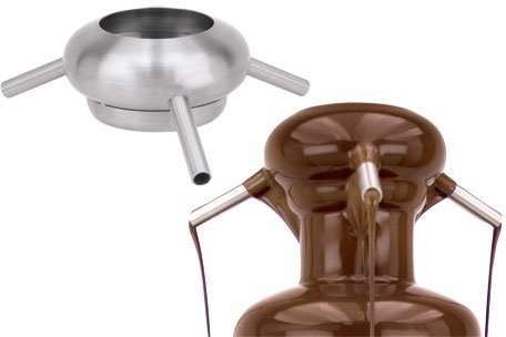 Buffet Enhancements Stainless Steel Chocolate Fountain 3 Spouts Topper fits 35 and 40 Inch Fountains