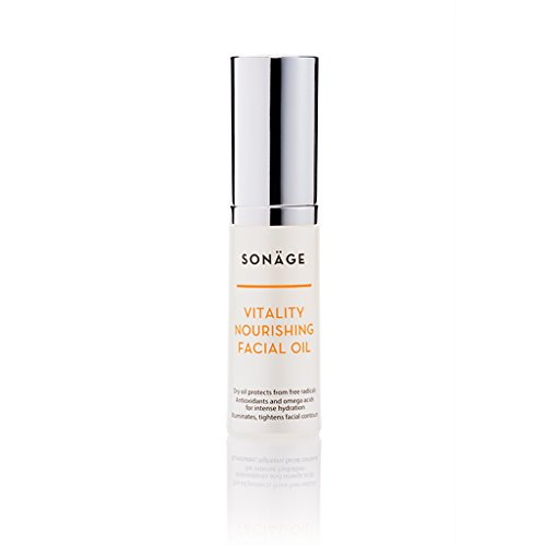 Sonage Vitality Nourishing Facial Oil - Blend of 10 Essential Dry Oils for Hydration and Illumination - Contains Antioxidants and Omega Acids - Argan and Marula Oil - Daily Moisturizer for Face