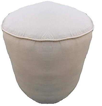 Amazoncom 18wx16h Plain Cotton Round Ottoman Footstool Solid