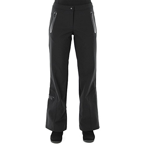 AFRC Soft Shell Stretch Ski Pant for Ladies (6 Petite, Black) by AFRC Skiwear (Image #1)