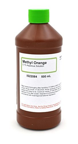 0.1% Aqueous Methyl Orange Solution, 500mL - The Curated Chemical - Methyl Orange Indicator