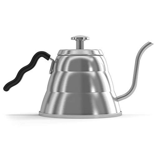 (Coffee Gator Pour Over Kettle - Fixed Thermometer for Exact Temperature (34floz))