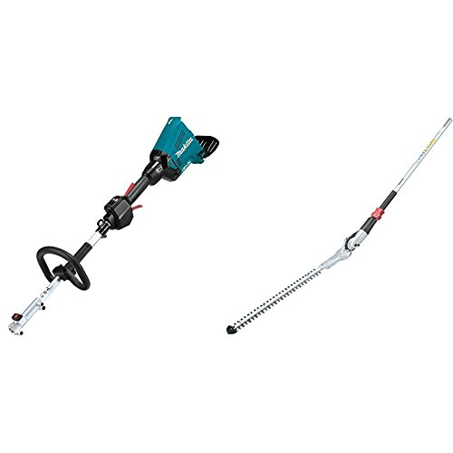 "Makita XUX01ZM5 18V X2 (36V) LXT Lithium-Ion Brushless Cordless Couple Shaft Power Head with String Trimmer Attachment, Tool Only with EN401MP 20"" Articulating Hedge Trimmer Couple Shaft Attachment"