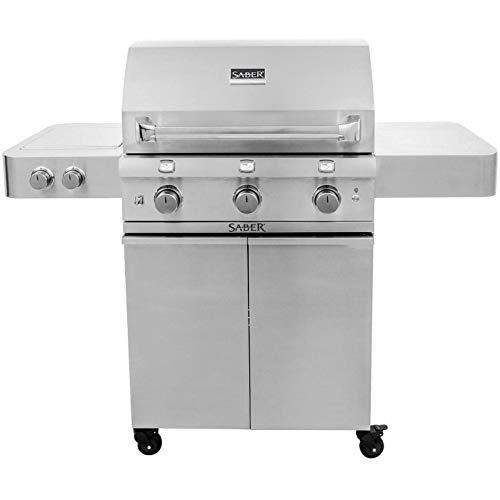 Saber Grills R50SC0017 3-Burner Grill, Stainless Steel