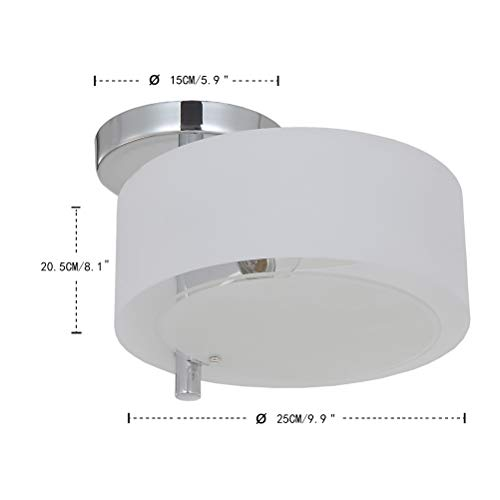 Flush Mount Ceiling Lamp Fixture,Modern 1-Light Ceiling