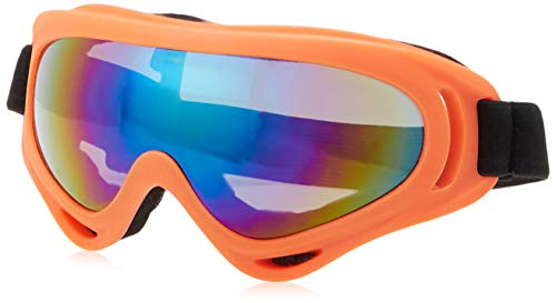 COOLOO Ski Goggles, Pack of 2, Snowboard Goggles for Kids, Boys & Girls, Youth, Men & Women, with UV 400 Protection, Wind Resistance, Anti-Glare Lenses